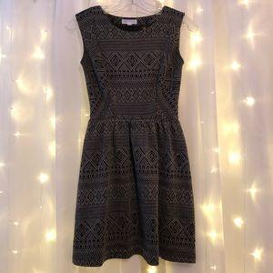 Geometric Graphic Ethnic Print Sleeveless Dress